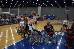 Mareike Miller im Duell gegen Miami Heat